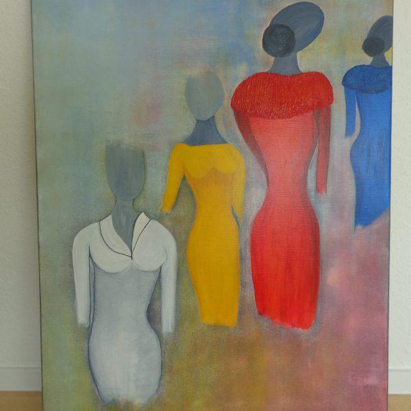 4 Damen, 80 x 100 cm