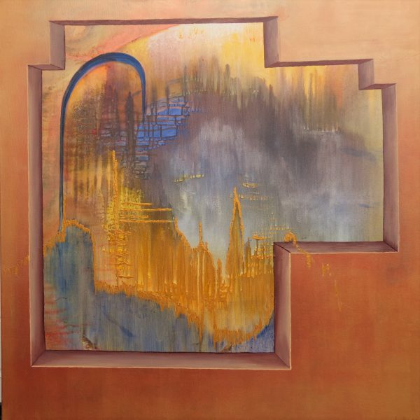 Ausblick, 100 x 100 cm