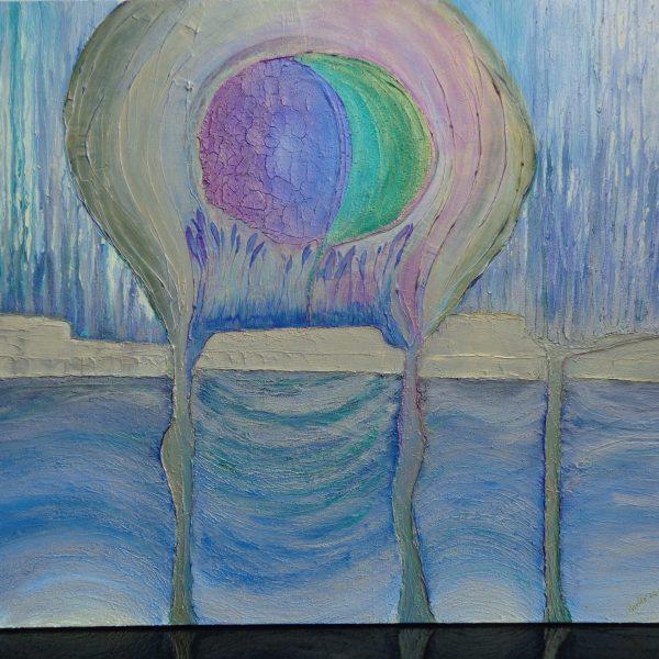 Blaue Lagune, 120 x 100 cm