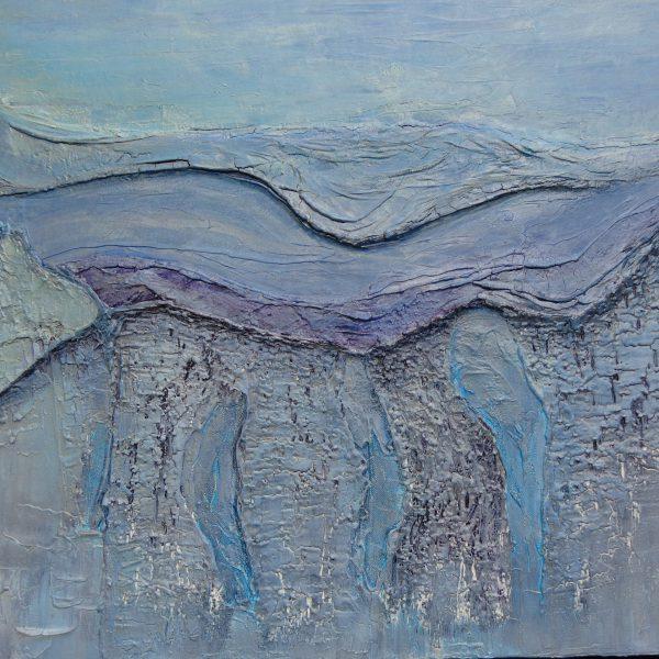 Blaue Landschaft, 100 x 80 cm
