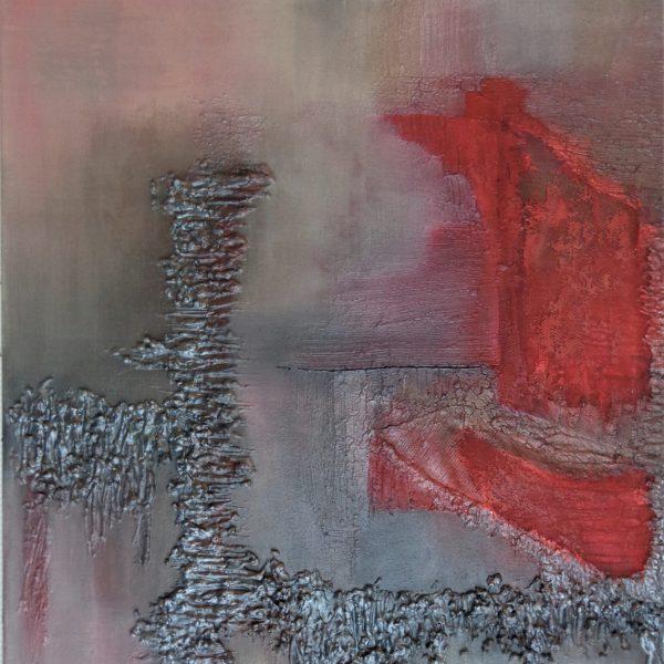 Komposition Rot-grau 2, 80 x 100 cm