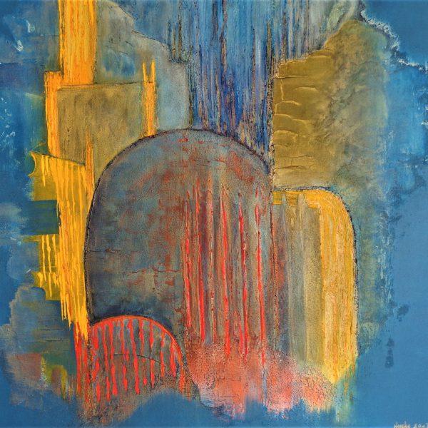 Lichtstrahlen, 100 x 100 cm