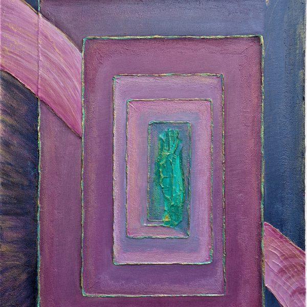 Lila-Grün 1, 50 x 70 cm