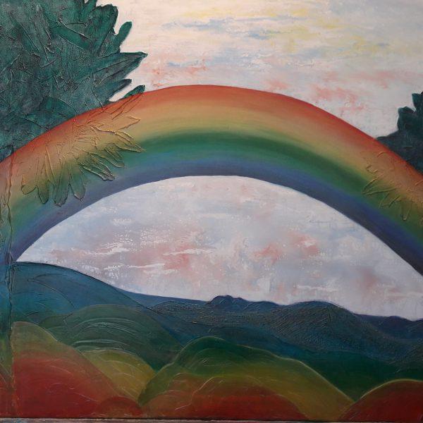 Regenbogen, 120 x 90 cm