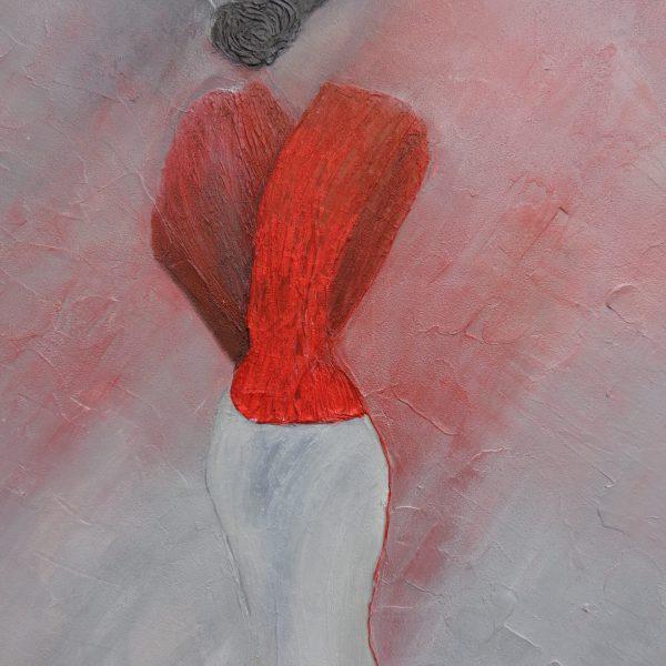 Roter Pelz, 80 x 100 cm