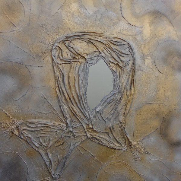 Spiegelbild, 100 x 100 cm