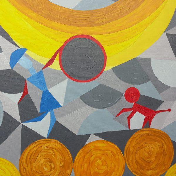 Zirkus 1, 70 x 50 cm