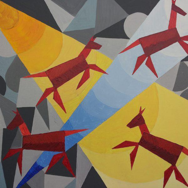 Zirkus 3, 70 x 50 cm