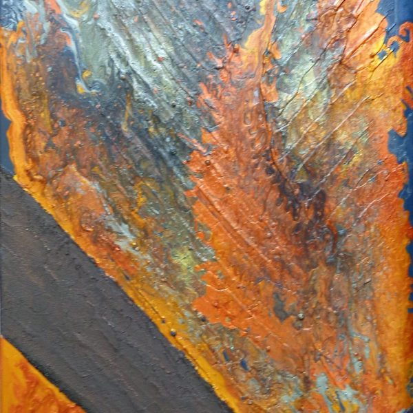 flammend, 50 x 100 cm
